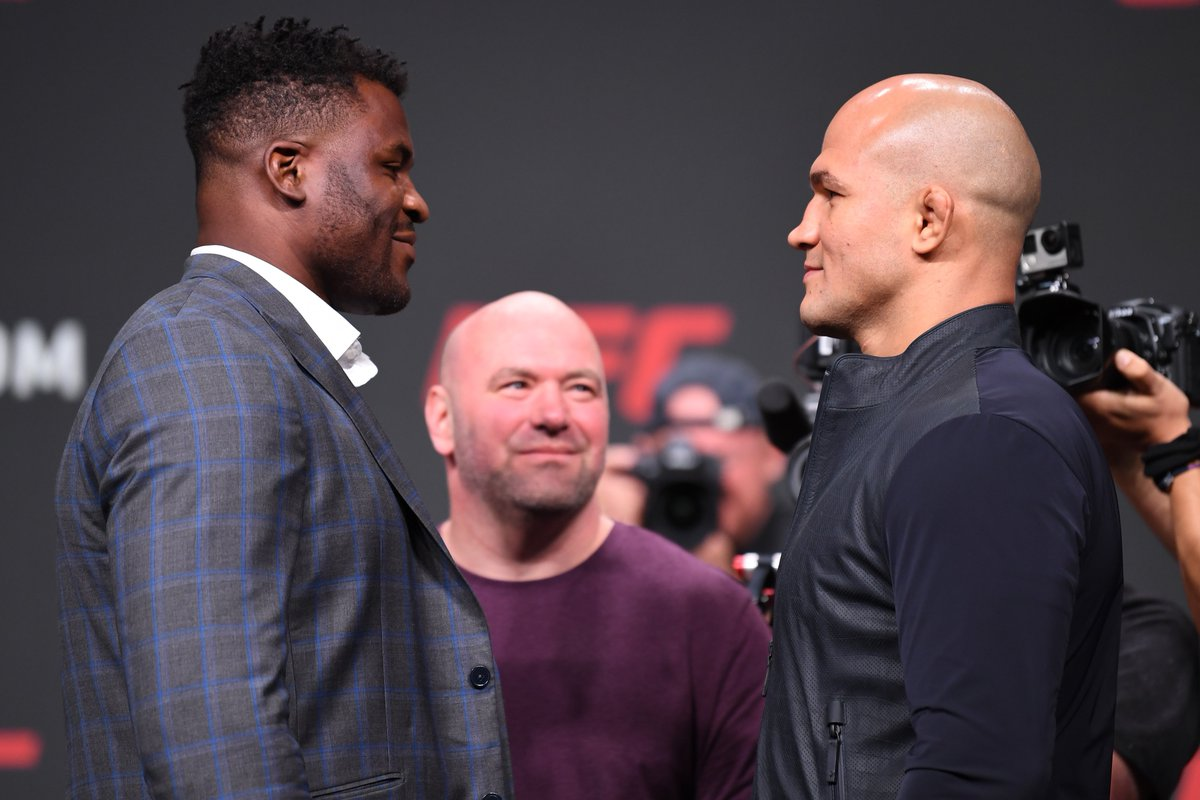 Top ranked HWs are coming!  🇨🇲 @Francis_Ngannou vs 🇧🇷 @Junior_Cigano on-sale now ➡️ http://bit.ly/2VHBxEG  #UFCMinneapolis