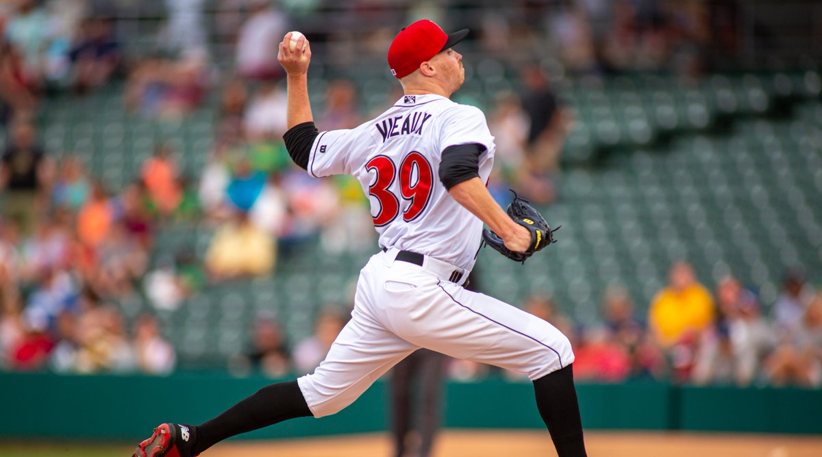 Cam Vieaux is working on something special in Buffalo! Hes allowed just one baserunner in 5 innings. Indians hold a 2-0 lead! #RollTribe