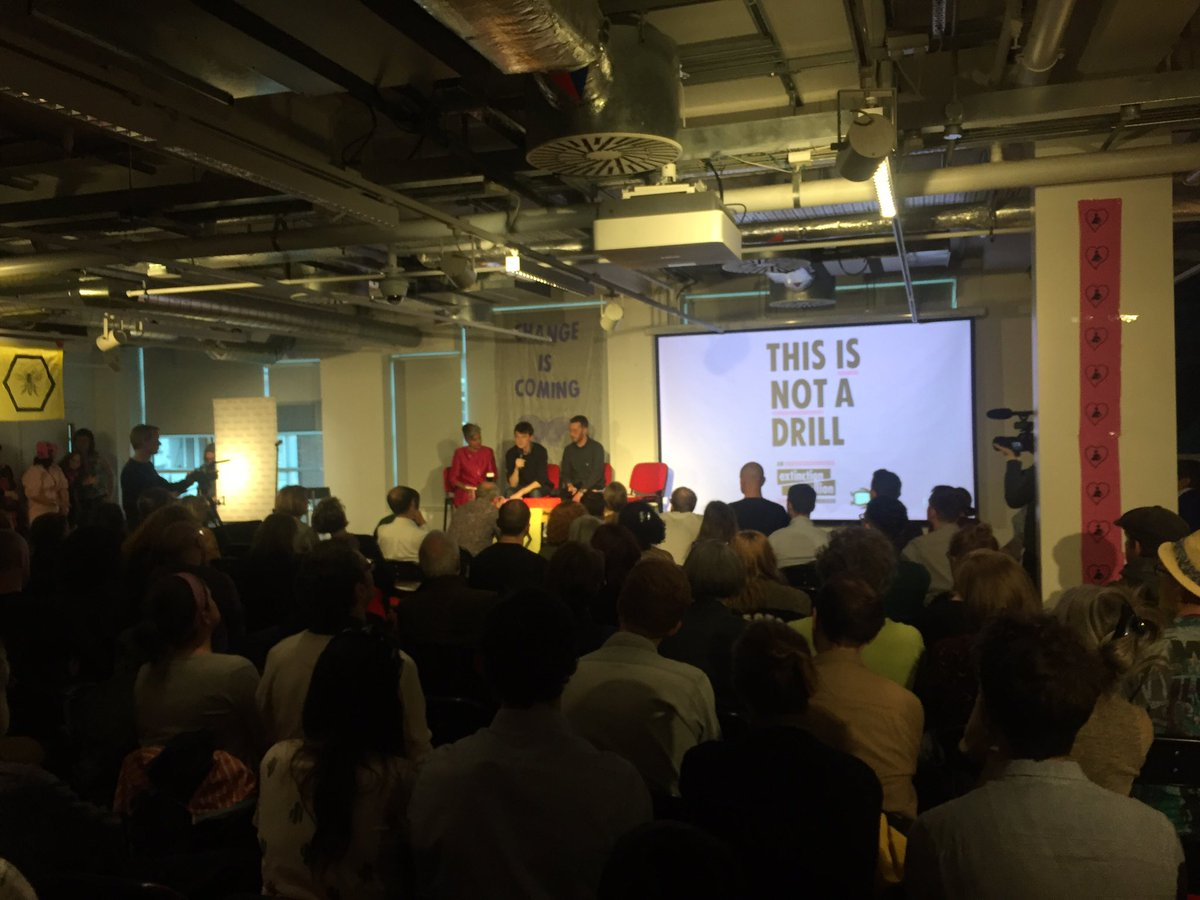 This Is Not A Drill' book launch at @Foyles, London UK  An