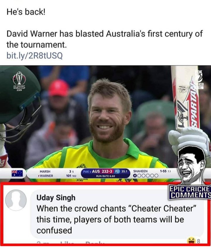 Dear #SarfarazAhmed  this is the reason your country people don't #boo on #Australia players