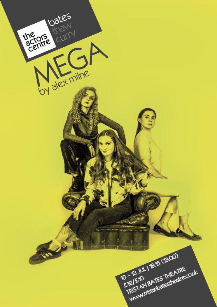 Delicious new poster for MEGA at @TristanBates ⚡️ Less than a month to go...