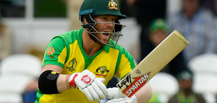 David Warner scored his first international century since serving a year-long ban for his part in the ball-tampering scandal in Australia's tense 41-run World Cup victory over Pakistan.➡https://bbc.in/2ZrD2oJ  #bbccricket #CWC19