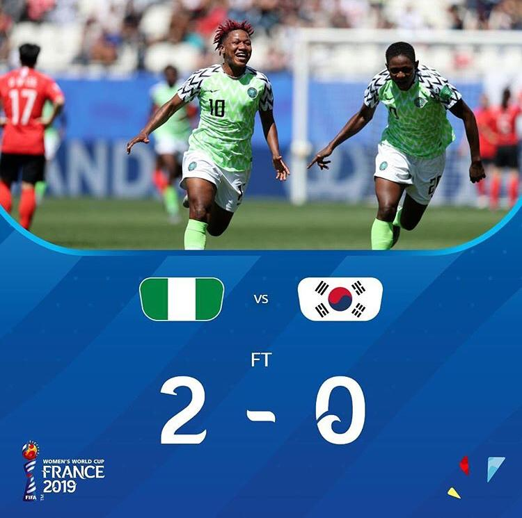 Caption: We Stan the super falcons.   A democracy day gift from the #SuperFalcons.  Naija for life!!!  SOAR SUPER FALCONS OF NIGERIA!  #LFG #fifawwc2019 #superfalconsofnigeria #superfalcons #soarsuperfalconsofnigeria #allurewomen #allurewoman #vanguardallure<br>http://pic.twitter.com/40k77gGhw7