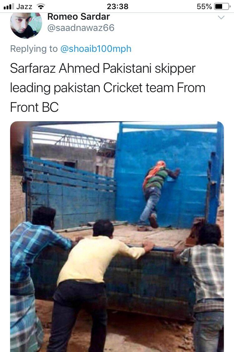 Pakistani skipper Sarfaraz leading Pakistani cricket team from@the front