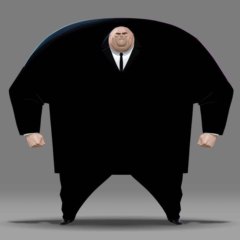 """Introduced by Stan Lee & John Romita Sr in 1967, Kingpin is one of the most ferocious crime lords in the Marvel Universe. Or, as Production Designer Justin K. Thompson describes him, """"this giant black hole that moves through space and time and swallows up everything in the room."""""""