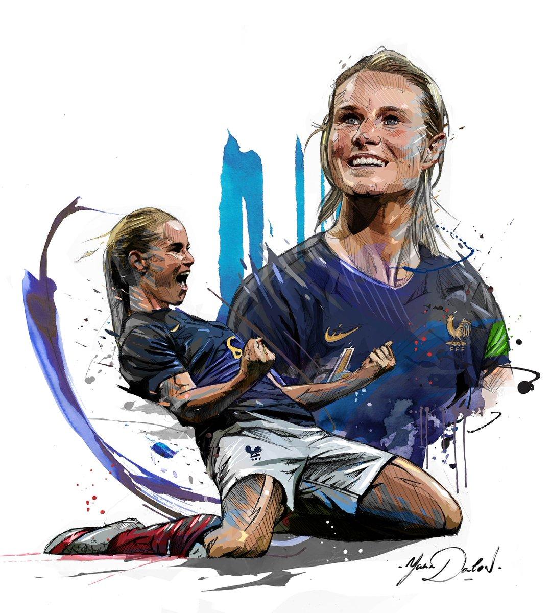 Mon Illustration d @amandinehenry6 , Bon match! #FRANOR #AmandineHenry