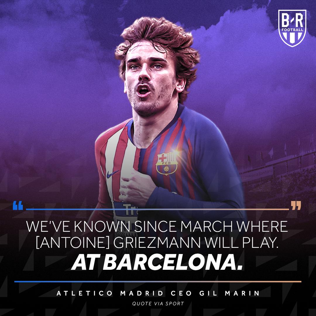 BREAKING: Atletico Madrid's CEO confirms Antoine Griezmann will play at Barcelona next season 🔵🔴