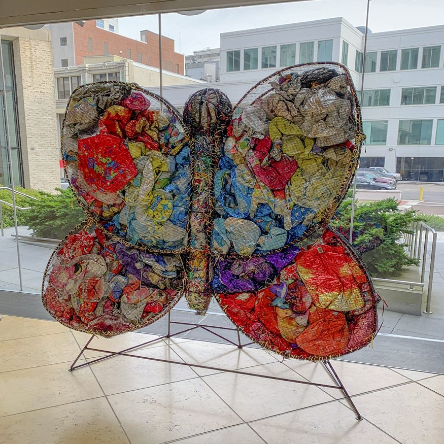 This new art installation visualizes the impact of balloon trash in Virginia waterways bit.ly/2Icm08c #sloverlibrary #pollution #artinstallation