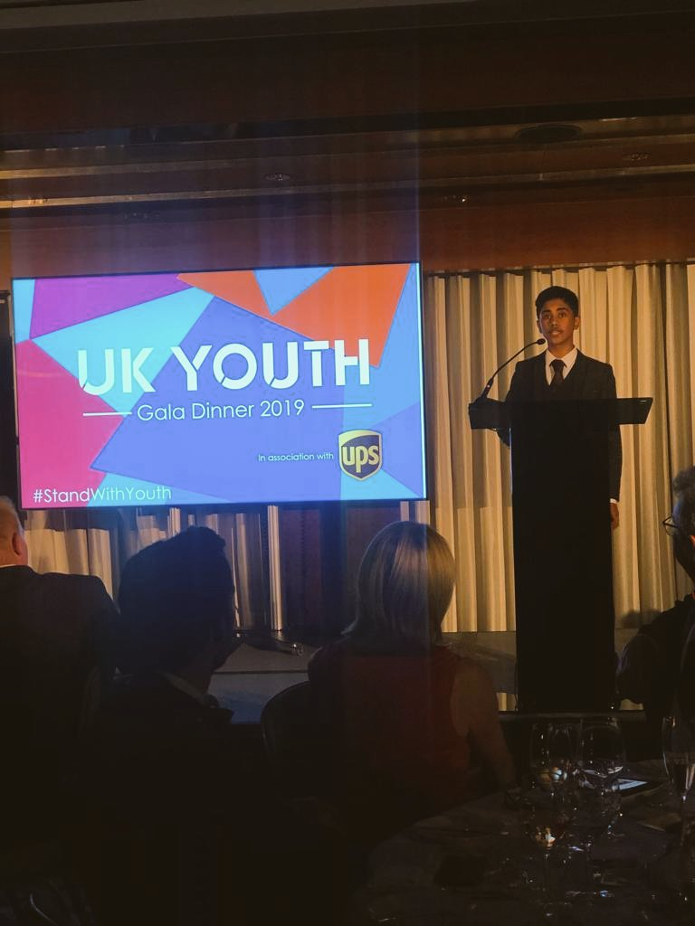 I am grateful to UK Youth for all my opportunities. I believe in equality. I believe we dont need to wait until we are old to make a difference... I am the best me thanks to youth work. What amazing words from Hassan from @AikSaath