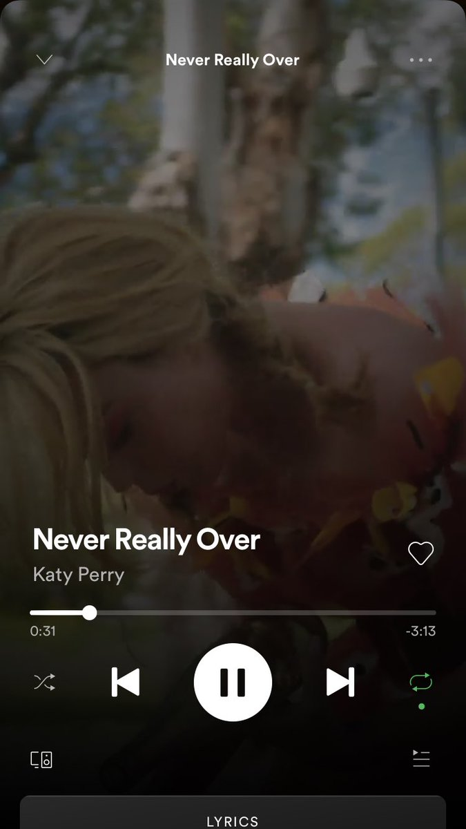 hi bb's... do you wish #NeverReallyOver had ended differently? Well, there's another option on the #NeverReallyOver canvas on @Spotify... http://katy.to/NeverReallyOver/spotify … #chooseyourownadventure 💁🏼‍♀