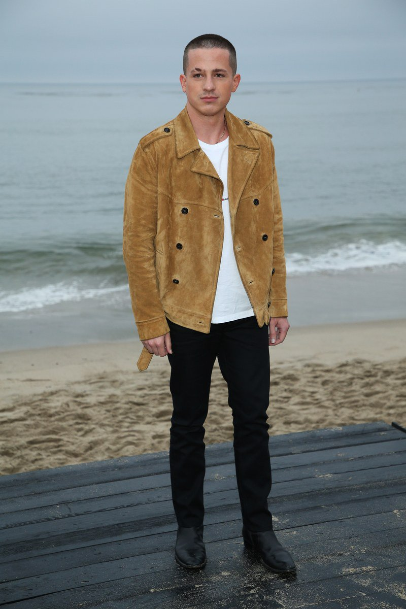 .@charlieputh's look at #YSLLA was a gentle reminder that buzz cuts, suede jackets, and pointy boots look great on every man  http:// gq.mn/NMP7qUs    <br>http://pic.twitter.com/iJqb3ojiKN