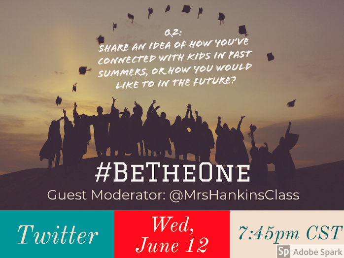 Q2. Share an idea of how you connected with kids in the past summers or how you would in the future. #BeTheOne