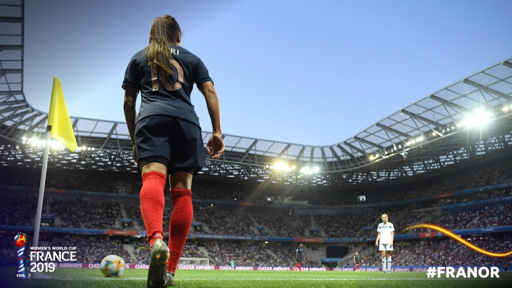 Under the lights.   #FRANOR | #FIFAWWC <br>http://pic.twitter.com/NbymJ45w5q