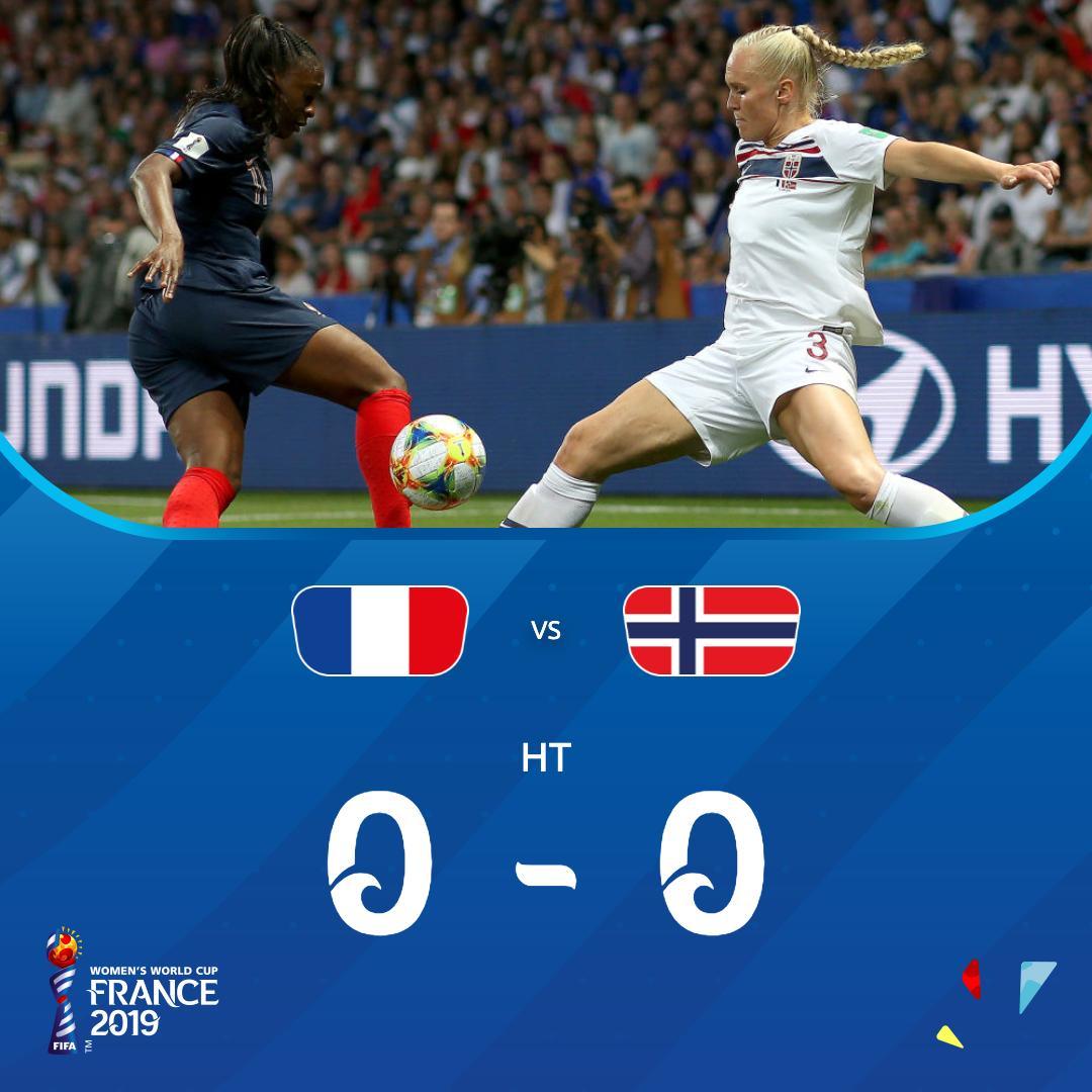 High in quality, low on goals.   It's 0-0 in Nice.   #FRANOR | #FIFAWWC <br>http://pic.twitter.com/Z5b3qUTL1E