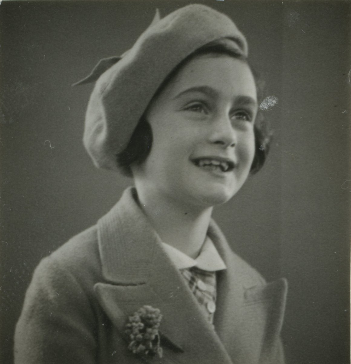 """Think of all the beauty still left around you and be happy.""—#AnneFrank #Anne90"