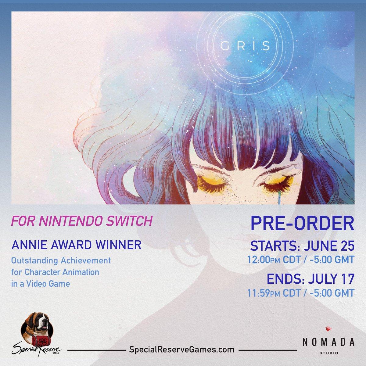 [PRECO] GRIS Nintendo switch Special Reserve Games D84w0PeXYAAUC91