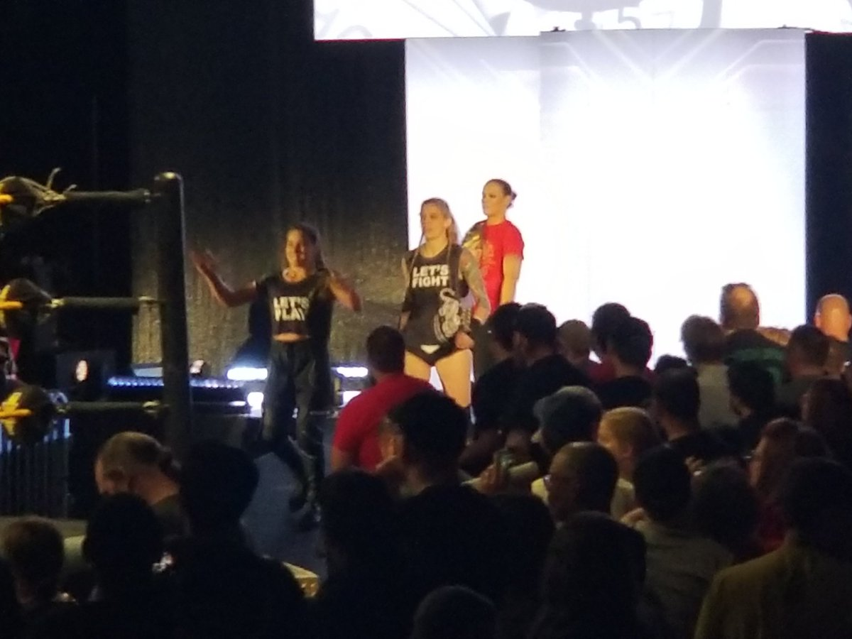 I was fortunate to see the 4 horsewomen at #NXTBelAir and its on #WWENXT Tv this week Dont get in our way Dont question us Most importantly dont piss us off @QoSBaszler @MarinaShafir  @jessamynduke