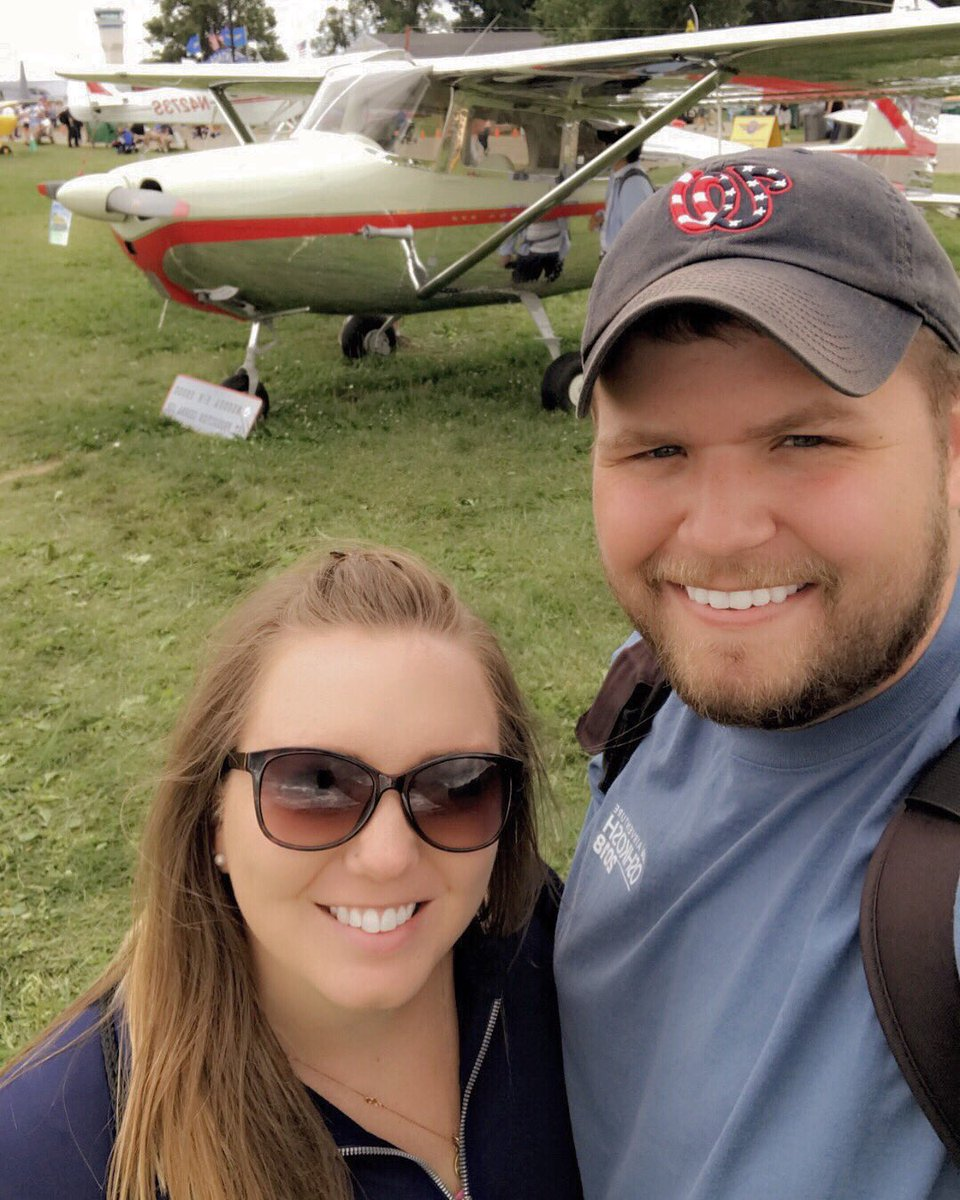 I have logged many landings and crossed many miles in the mighty #CessnaSkyhawk but some of the most fun has been with my co-pilot, @katiesterling3!   It was an amazing opportunity to show her Cessna 172 No. 1 at Oshkosh.