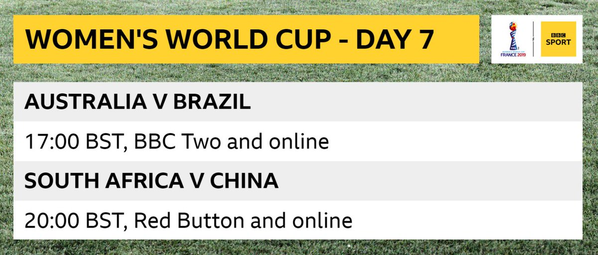 ⚠ COMING UP ⚠ If you've missed any of today's action never fear, the @BBCSport website has got you covered.Here ➡https://bbc.in/2L0uNIF  #FIFAWWC