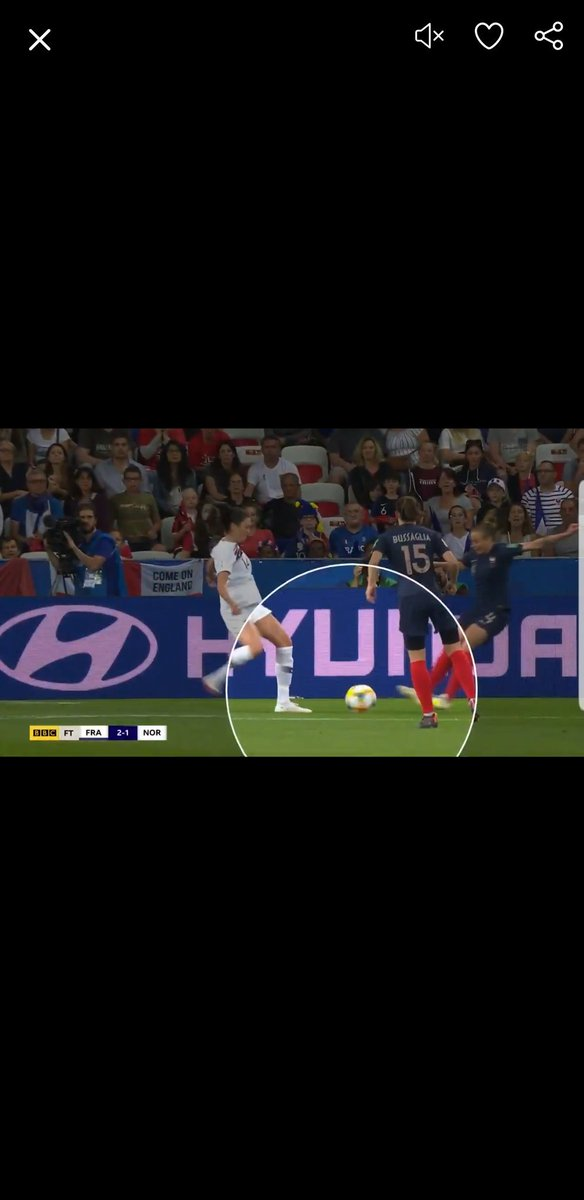 Think you should watch it again, clearly goes up into the challenge with both feet coming together and down at her opponent. No debate to be had, was clear double footed motion going into the tackle. Both feet up, arms back. Literally jumping double footed.