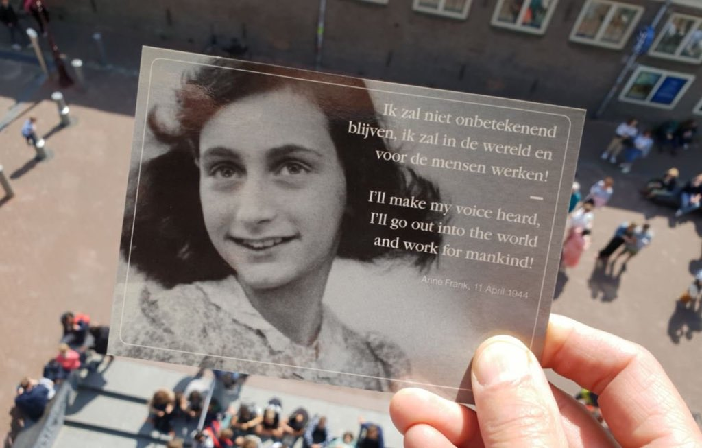 I stand with Anne against prejudice! Happy 90th birthday. #AnneFrank90 <br>http://pic.twitter.com/VdAe8imZSH