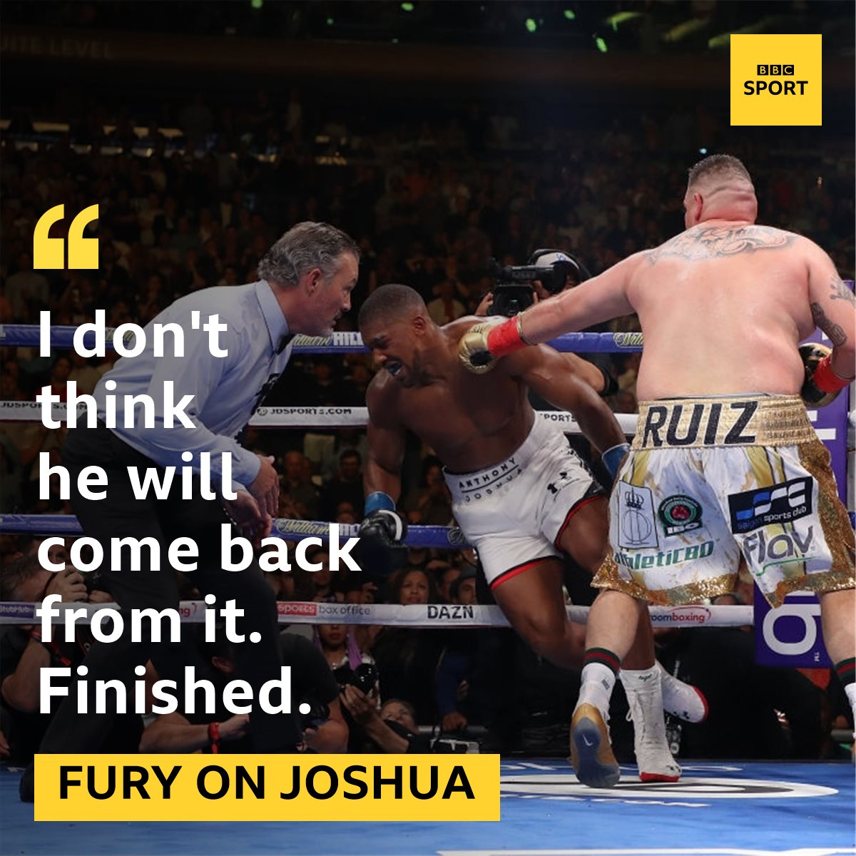 Tyson Fury hasn't held back on Anthony Joshua 👀More: https://bbc.in/2XEefgL