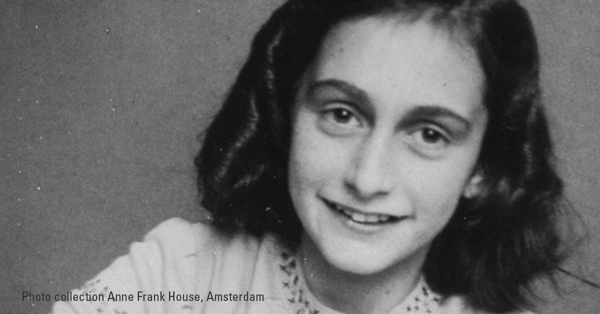 """""""No one has ever become poor by giving.""""—#AnneFrank #Anne90"""
