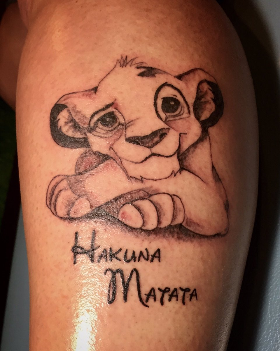 Zebra Tattooz On Twitter Simba And The Infamous Hakuna