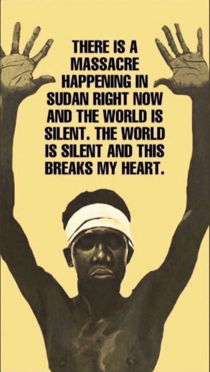 the massacre happening in Sudan needs to stop!  #PrayforSudan