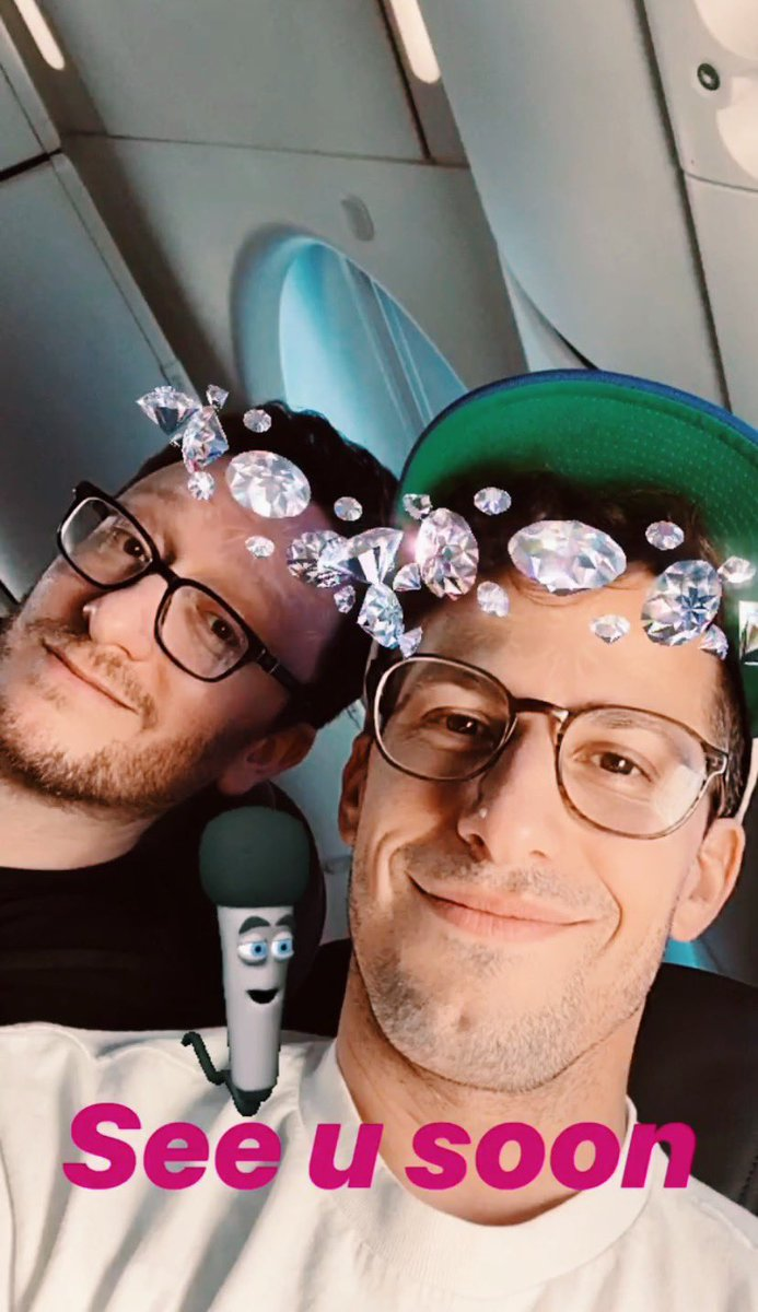 andy and kiv on their way to texas for the first show of the tour! 🥰