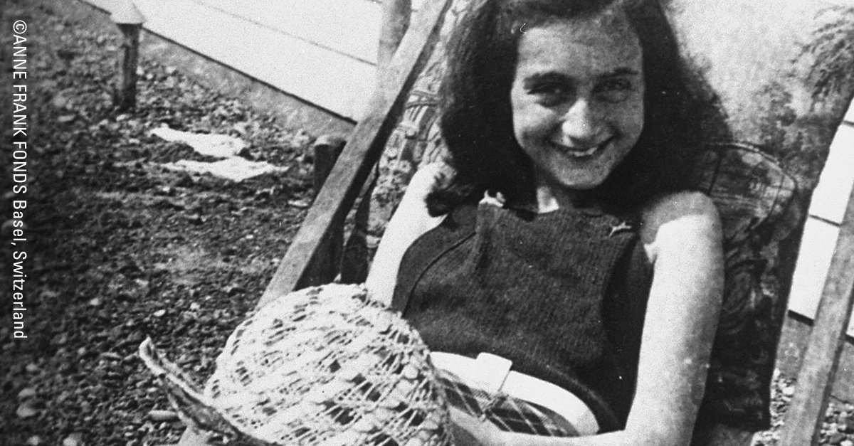 """""""Where there's hope, there's life. It fills us with fresh courage and makes us strong again.""""—#AnneFrank #Anne90"""