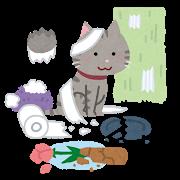 近いものはあった いたずらをする猫のイラスト