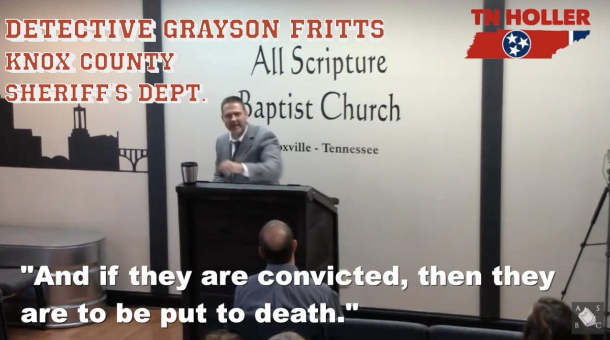 Tennessee Deputy, Pastor Calls For Execution Of LGBTQ People