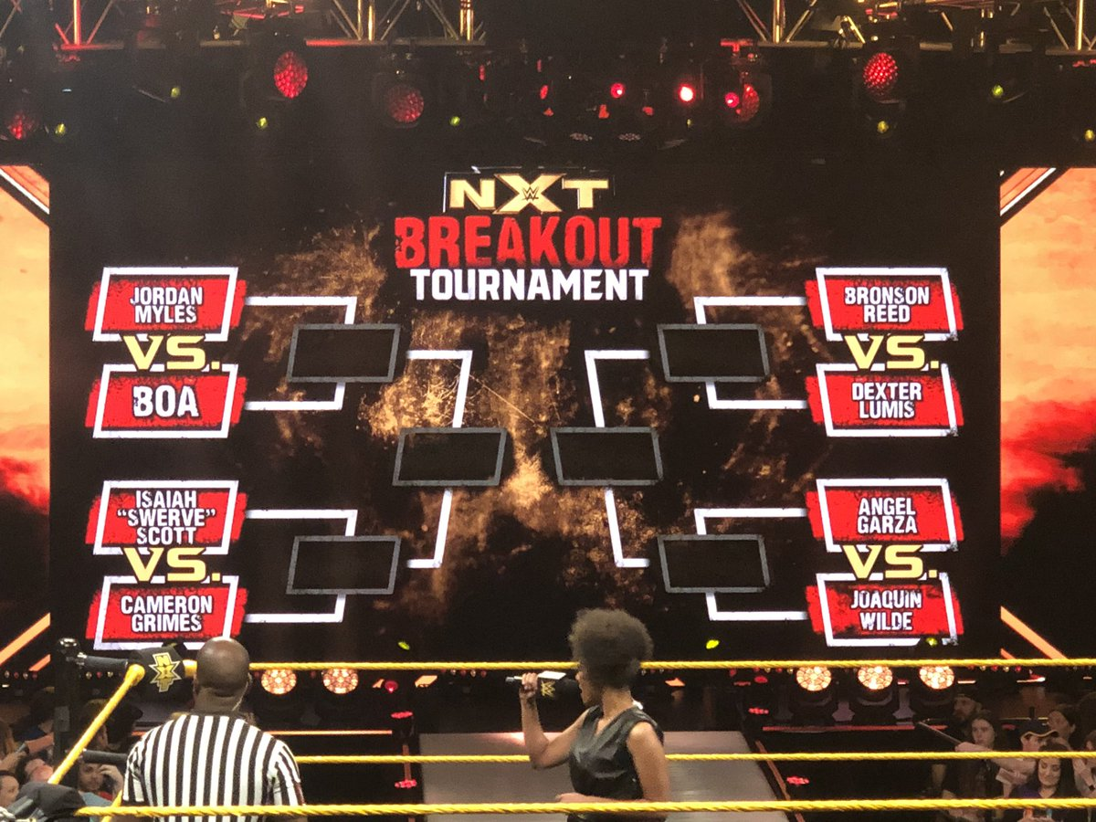 WWE NXT Breakout Tournament To Begin Airing This Month, Participants Revealed (Bracket Photo)