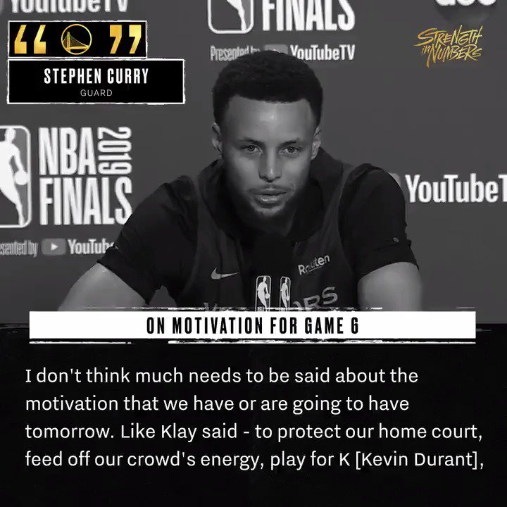"""""""We'll be ready.""""  Steph is on the 🎙️"""