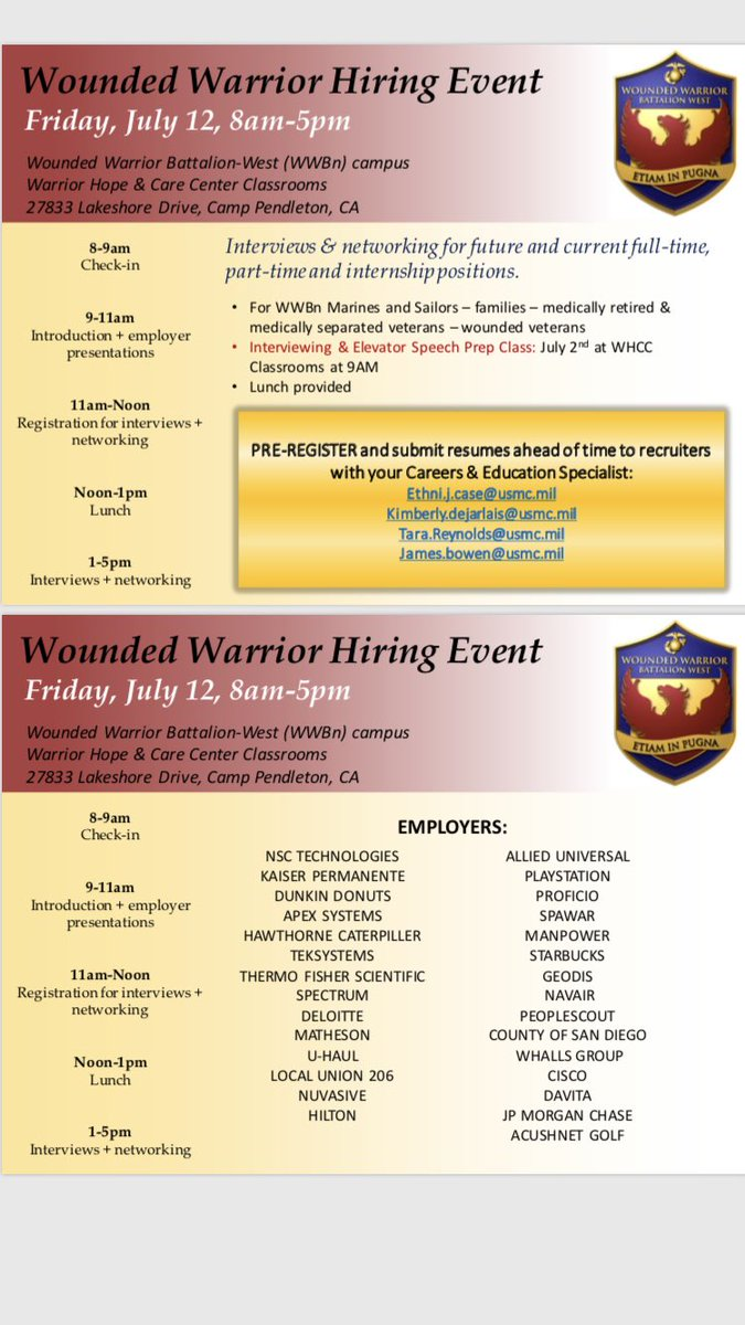 Wounded Warrior Battalion - West (@WestWounded)   Twitter