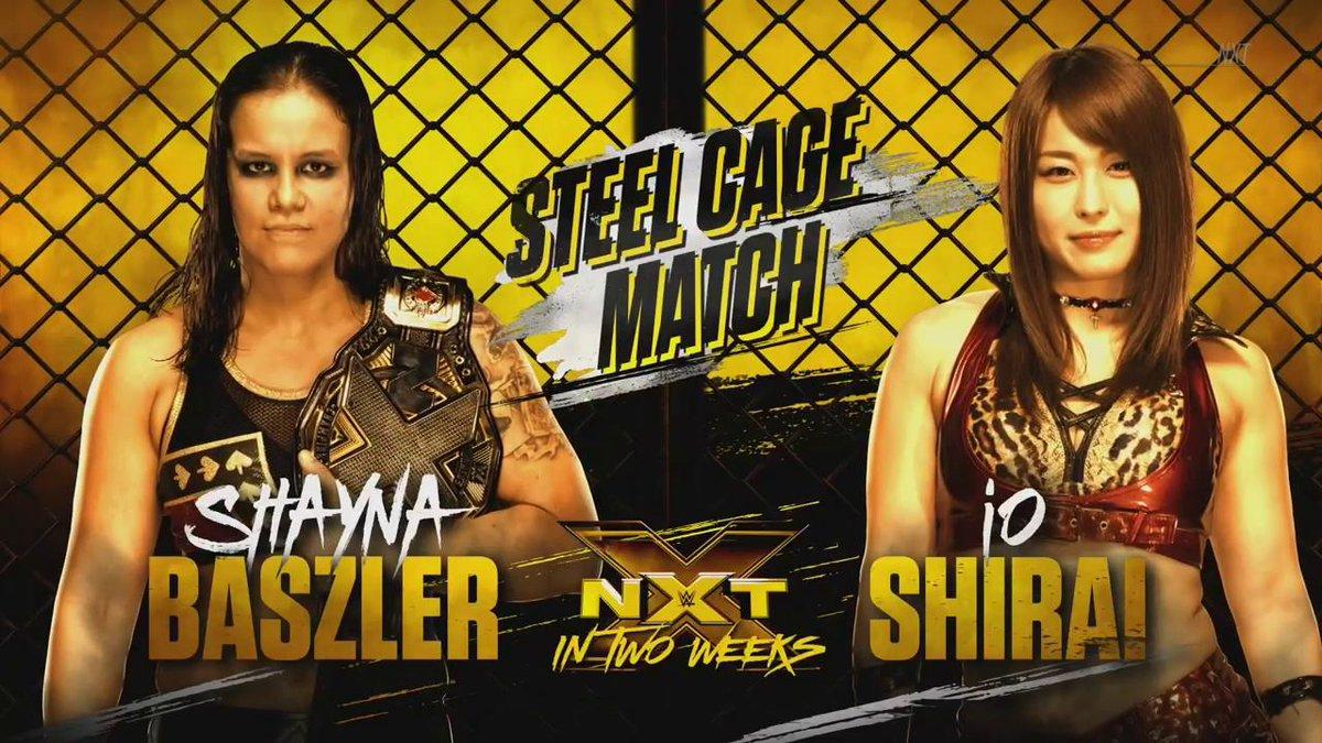 【 #NXT 速報】さらに遺恨深まるイオとシェイナ!2週間後のNXTで2人はスチールケージ戦で激突!!!!!!  #WWE #WWENXT #wwe_jp @shirai_io
