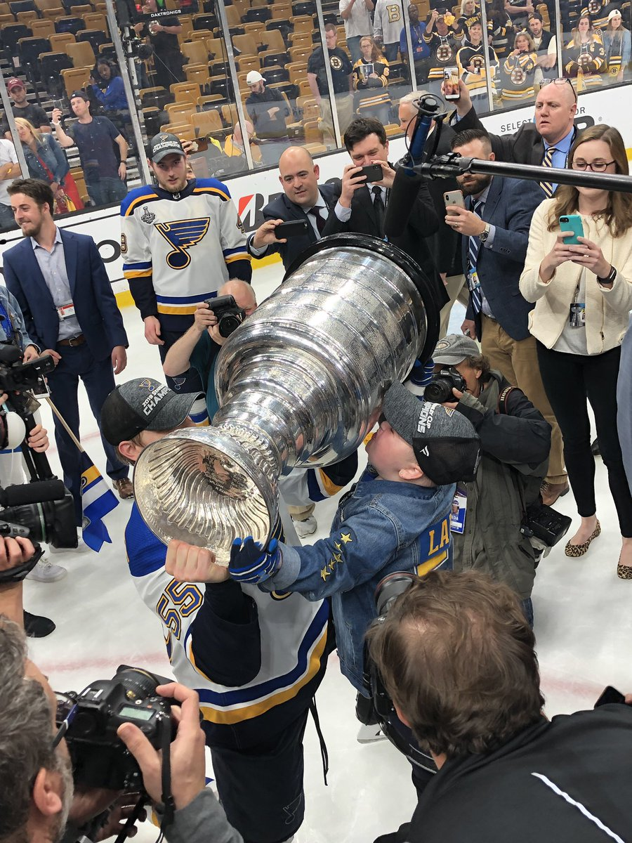 Laila Hoists the Stanley Cup