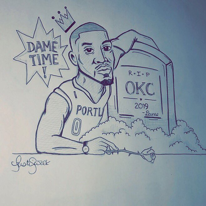 @Dame_Lillard art 🏀🗣🐐 #DameTime RTFORME