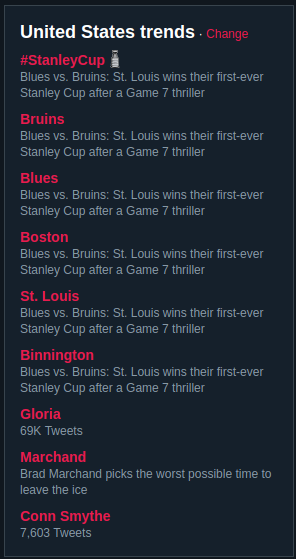 I could be wrong but I think St. Louis won their first-ever Stanley Cup after a Game 7 thriller.  This is like that time half the trending topics told us that Odell Beckham Jr. is heading to the Browns. https://t.co/XEXEGSOuh6