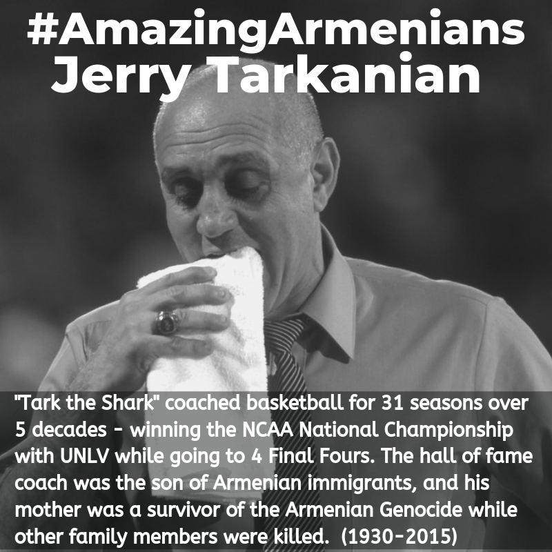 "While the NBA finals are still being played out, remember this amazing Armenian. ""Tark the Shark"" with his towel. #ArmenianGenocide #AmazingArmenians https://t.co/SLIFr6Bicn"