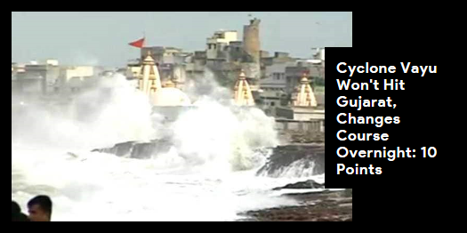 Lead story now on http://ndtv.com: The western coast continues to be on high alert as strong winds and rough seas are expected for the next 24 to 48 hours https://www.ndtv.com/india-news/cyclone-vayu-changes-course-moves-away-from-gujarat-coast-10-points-2052405…#NDTVLeadStory #CycloneVayu