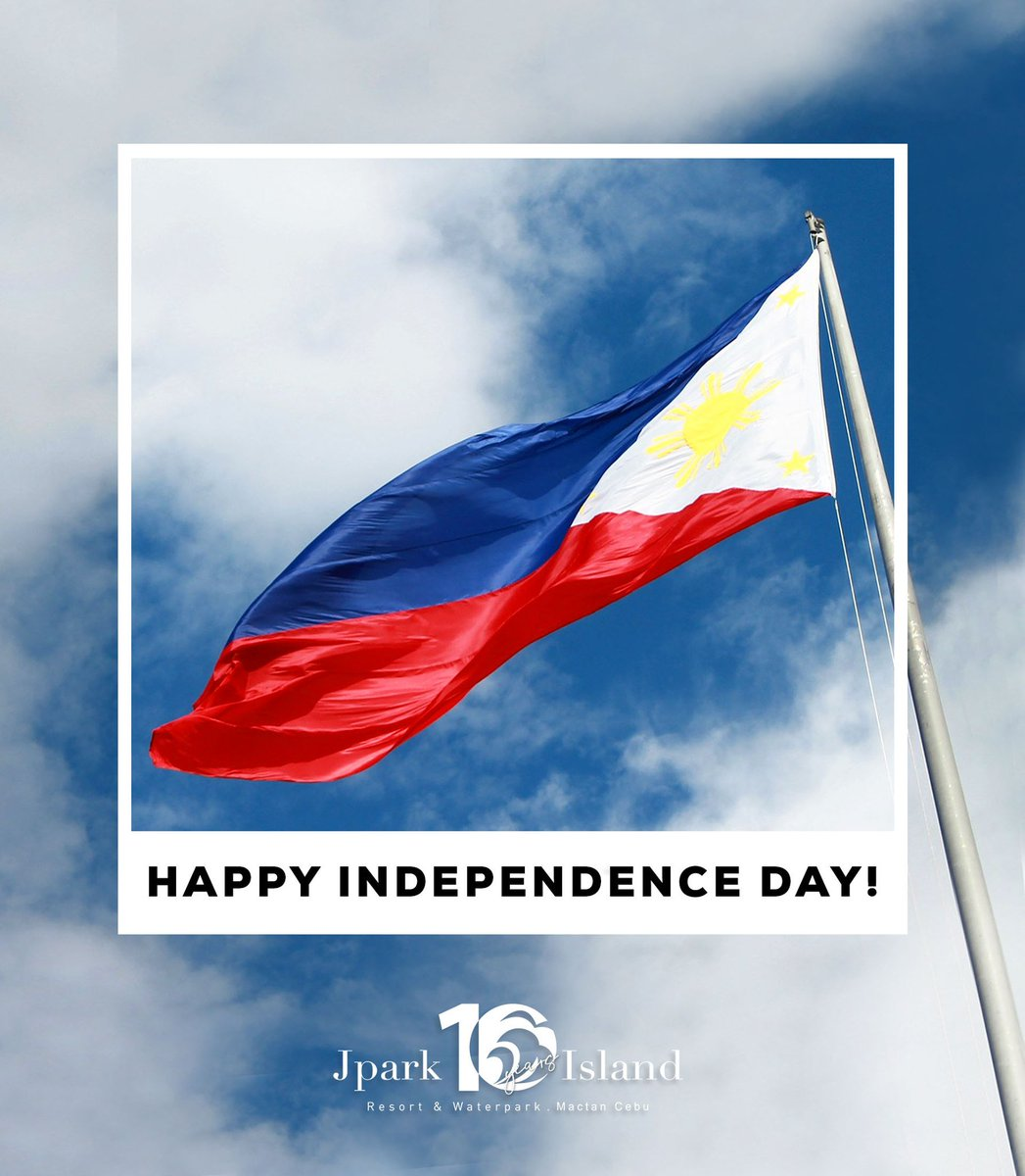 On this day in 1898, the Filipinos were set free. Let's celebrate our freedom today!  #MyJparkStory #WaterYouWaitingFor  #TenYearsOfJpark https://t.co/S0IkpbULXA