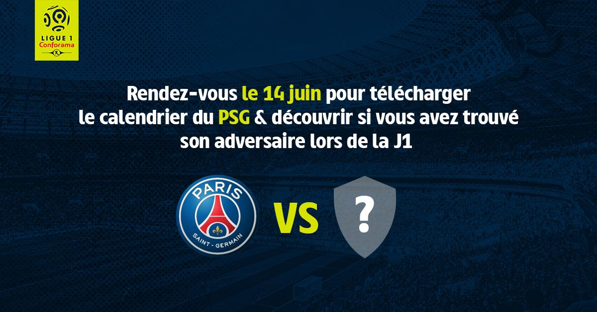 Calendrier L1 Psg.Calendrier Ligue 1 Psg