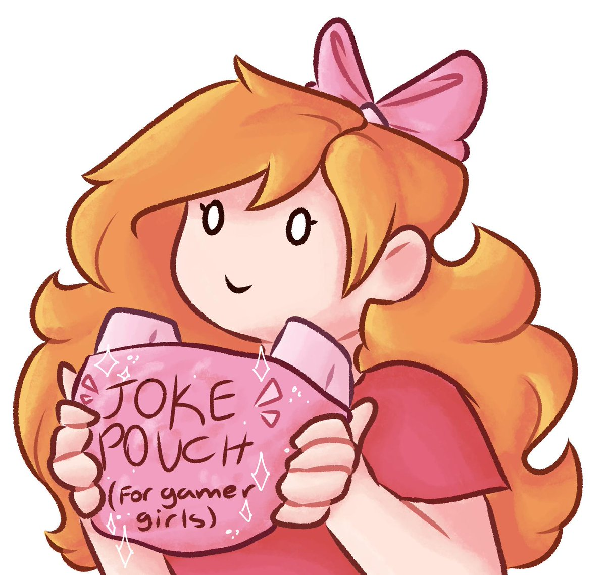 Some #snapstreamart of Penny with her Joke Pouch (for gamer girls)™! <br>http://pic.twitter.com/3cXj11rCJm