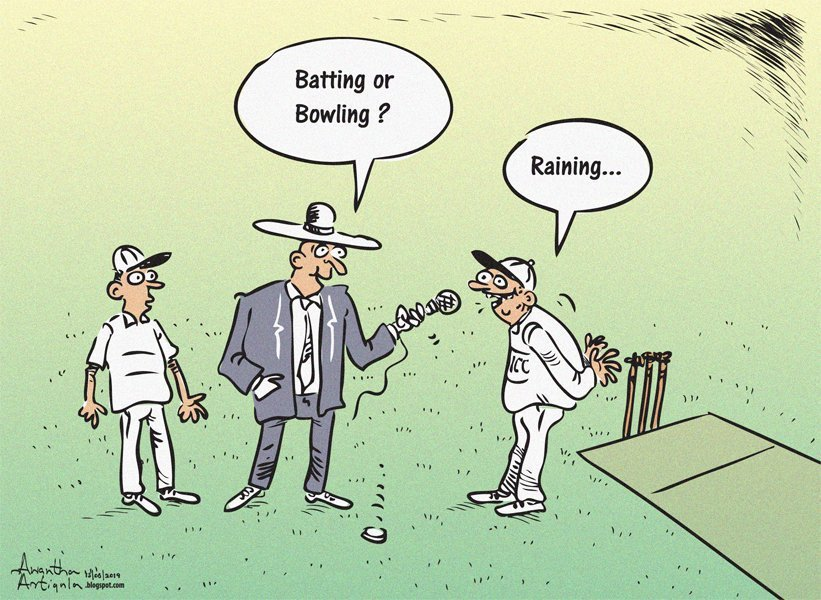A cartoon is worth a thousand words #INDvsNZ #CWC19