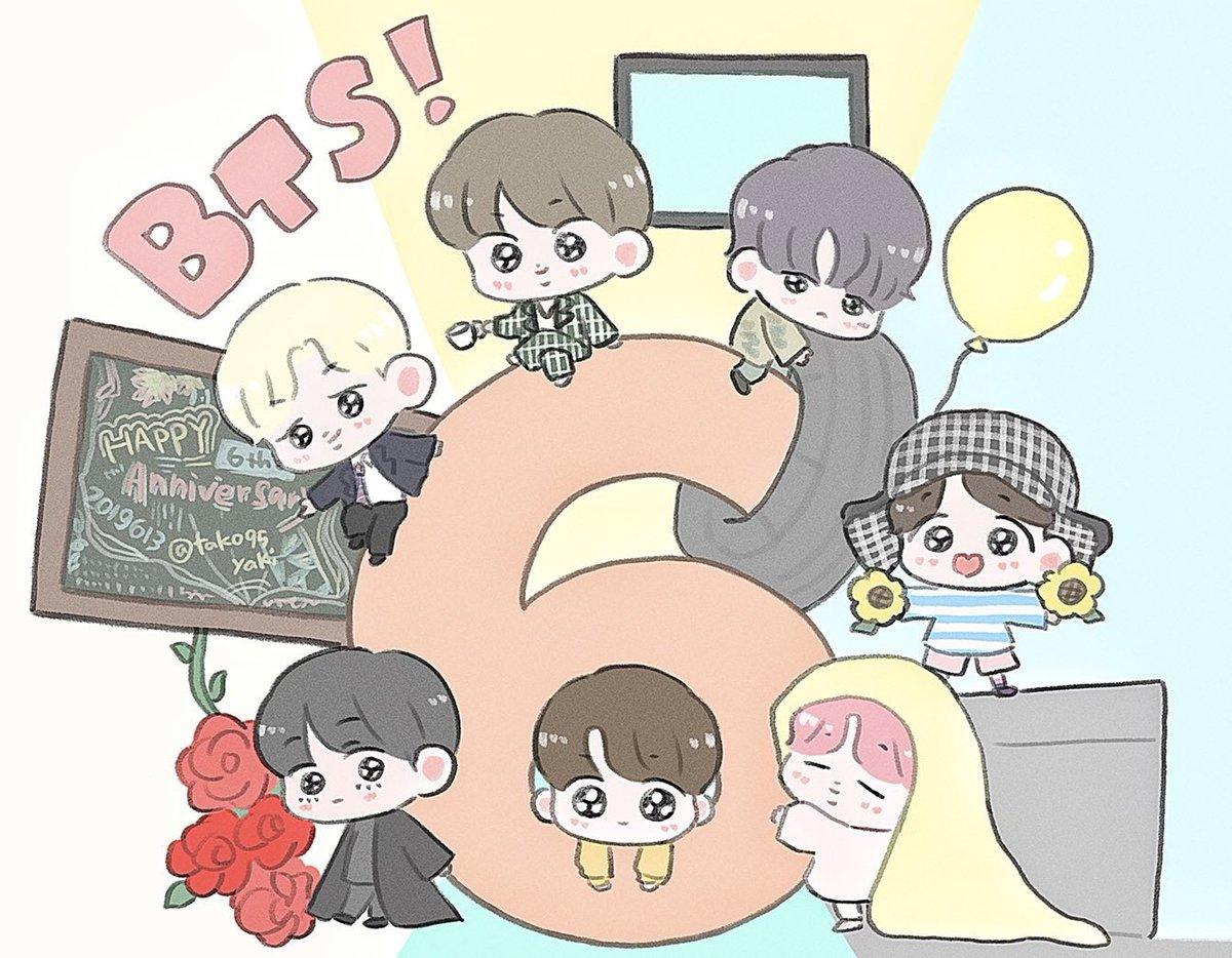 ☺️🎉💕 #BTS6thAnniversary #6YearsWithOurHomeBTS #방탄6주년보라해 #BTS @BTS_twt