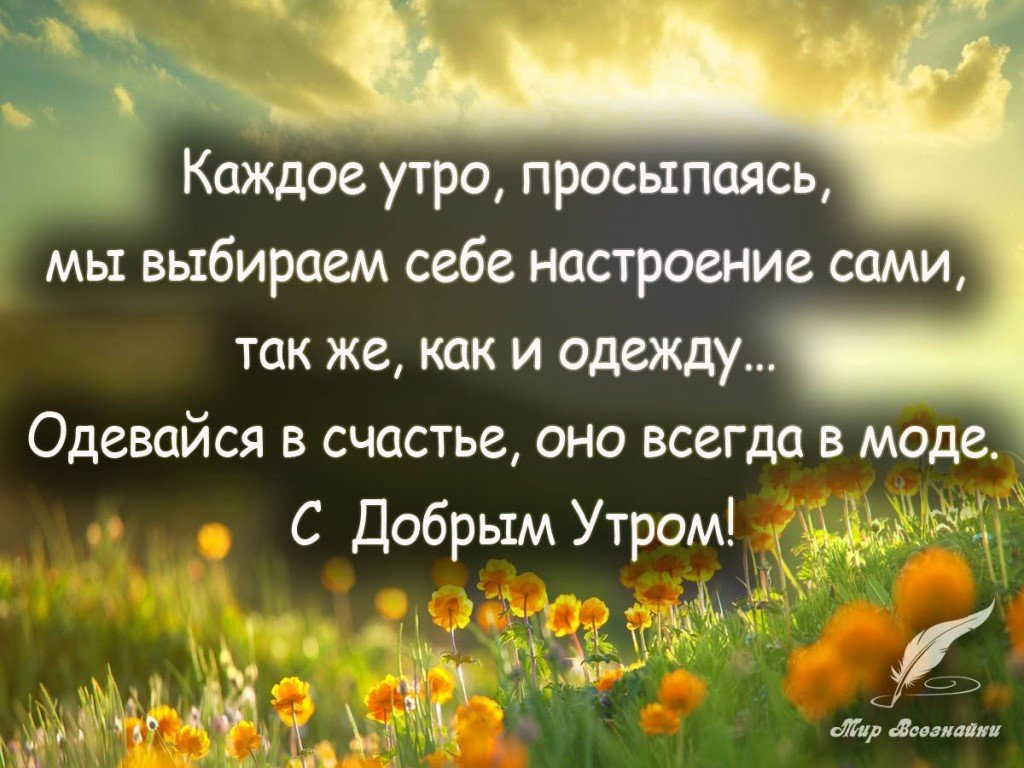 цитаты с пожеланием доброго утра
