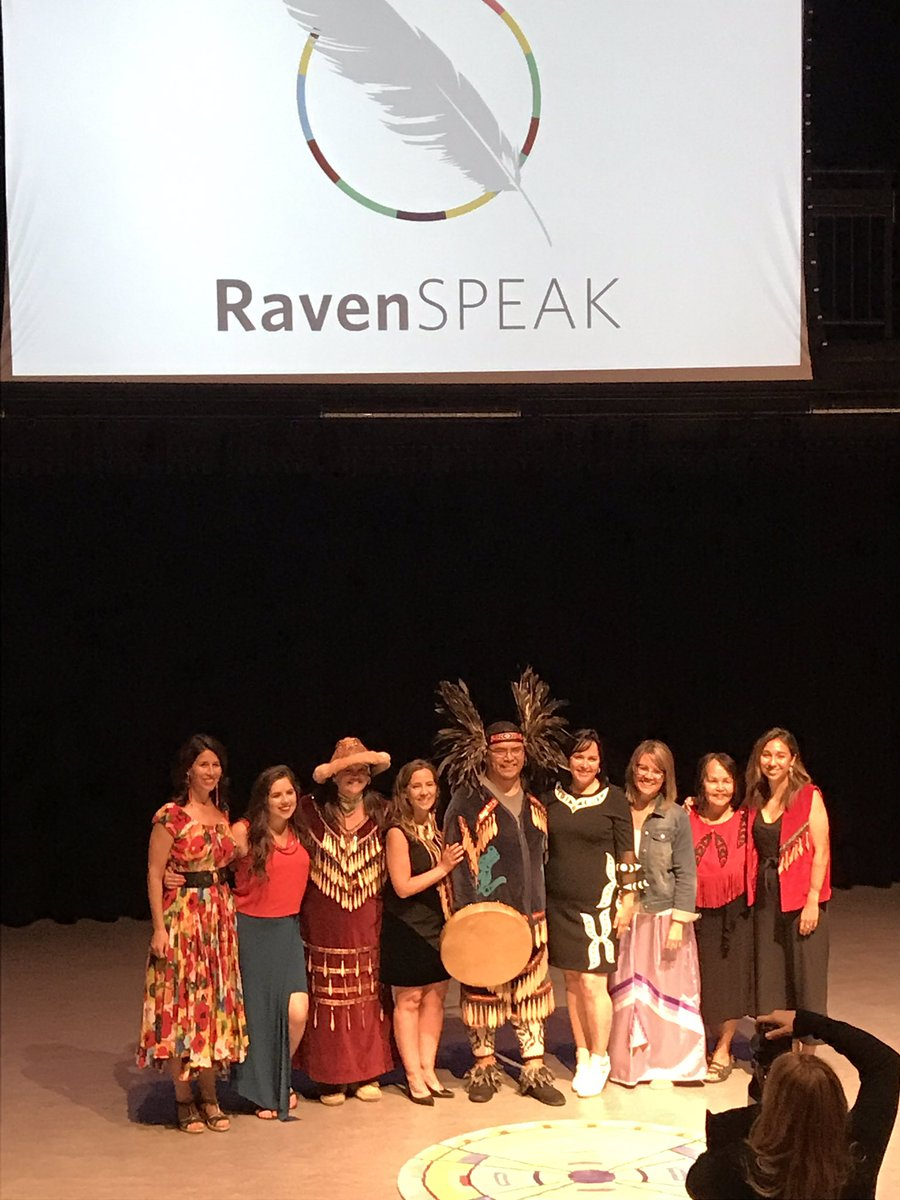 So much gradititude for tonight's speakers at @RavenInstitute's #RavenSPEAK. Thank you for sharing your Important stories and to @tearafraser & @KianaRAlexander for all your work to ensure indigenous voices are #AMPLIFIED.