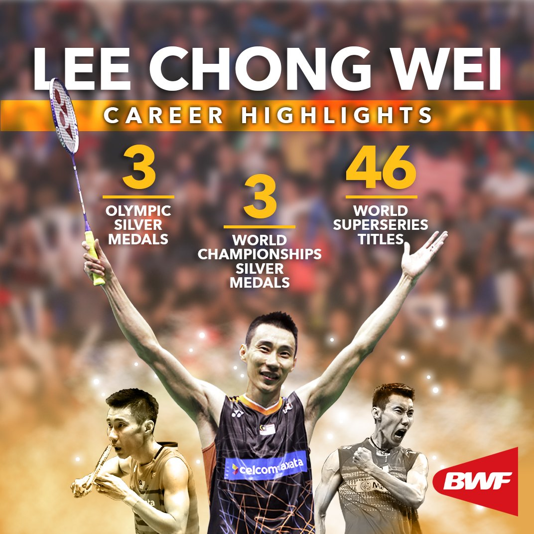 Goodbye, @LeeChongWei, and thanks for the memories. We wish you the very best in your future endeavours.